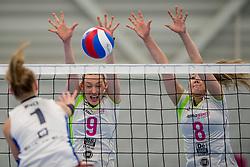 25-10-2017 NED: Sliedrecht Sport - Eurosped TVT, Sliedrecht<br /> Sliedrecht Sport wint met 3-1 van Eurosped / Christie Wolt #1 of Sliedrecht Sport, Laura Beach #9 of Eurosped, Bo Duteweert #8 of Eurosped
