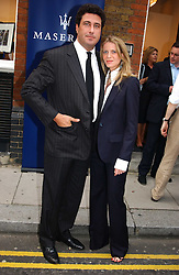MR EDUARDO TEODORANI-FABBRI nephew of Fiat chief Giovanni Agnelli and FRANCESCA NARDI at an exhibition of photographs featuring Maserati cars held at the Michael Hoppen Gallery, 3 Jubilee Place, London SW3 on 13th July 2005.<br /><br />NON EXCLUSIVE - WORLD RIGHTS