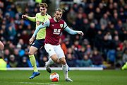 Burnley forward Jay Rodriguez (19) during the Premier League match between Burnley and Bournemouth at Turf Moor, Burnley, England on 22 February 2020.