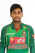 Mehedi Hasan Miraz, Bangladesh cricket team headshots ahead of their New Zealand tour. Cobham Oval, Whangarei. 21 December 2016. Copyright Image: Heath Johnson / www.photosport.nz