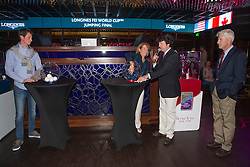 Beezie Madden, (USA) and Daniel Deusser, (GER) performing the draw in the Hakkasan Club at the MGM Hotel<br /> Longines FEI World Cup™ Jumping<br /> Final<br /> Las Vegas 2015<br />  © Hippo Foto - Dirk Caremans<br /> 16/04/15