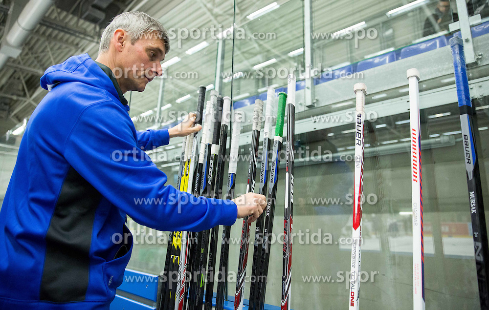 Milan Dragan during practice session of Slovenian Ice Hockey National Team at Day 4 of 2015 IIHF World Championship, on May 4, 2015 in Practice arena Vitkovice, Ostrava, Czech Republic. Photo by Vid Ponikvar / Sportida