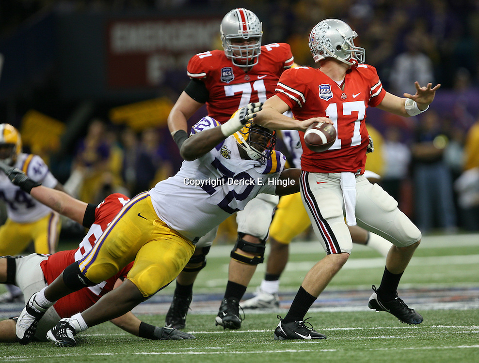 The LSU Tigers defeated the Ohio State Buckeyes 38-24 in the AllState BCS National Championship game on January 7th 2008.