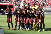 August 4, 2018; Santa Clara, CA, USA; AC Milan pose for a photo before the match against the FC Barcelona in an International Champions Cup soccer match at Levi's Stadium.