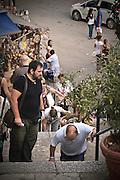 Santuario di Santa Rosalia, durante il giorno di Santa Rosalia molti palermitani per fare  penitenza o per chiedere una grazia alla santa salgono sul monte Pellegrino dove c'&egrave; il santuario procedendo a carponi e scalzi.<br /> Shrine of Santa Rosalia, during the day of Santa Rosalia in Palermo, many to do penance or to ask a favor to the Saint climb on Mount Pellegrino, where is the sanctuary dedicated to Rosalia,  either crawling on their knees  as well as walking  barefoot.