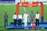 Naveen Patnaik Chief minister of Orissa with dignitaries during the final of the Hero Super Cup between East Bengal FC and Bengaluru FC held at the Kalinga Stadium, Bhubaneswar, India on the 20th April 2018<br /> <br /> Photo by: Arjun Singh / SPORTZPICS