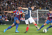 Cammy Kerr hold off Danny Butterfield - Crystal Palace v Dundee - Julian Speroni testimonial match at Selhurst Park<br /> <br />  - © David Young - www.davidyoungphoto.co.uk - email: davidyoungphoto@gmail.com