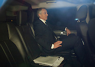 Ex-PM Tony Blair is driven away from the palace of Westminster.