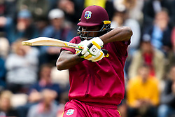 Chris Gayle of West Indies goes on the attack - Mandatory by-line: Robbie Stephenson/JMP - 14/06/2019 - FOOTBALL - Hampshire Bowl - Southampton, England - England v West Indies - ICC Cricket World Cup 2019 group