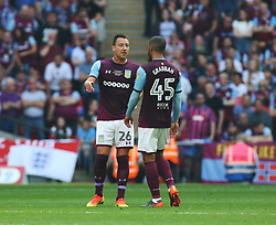 May 26, 2018 - London, England, United Kingdom - John Terry of Aston Villa  having words with Lewis Grabban of Aston Villa.during the Championship Play-Off Final match between Fulham and Aston Villa at Wembley, London, England on 26 May 2018. (Credit Image: © Kieran Galvin/NurPhoto via ZUMA Press)