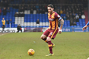 Bradford City midfielder Romain Vincelot (6)   during the EFL Sky Bet League 1 match between Oldham Athletic and Bradford City at Boundary Park, Oldham, England on 3 February 2018. Picture by Mark Pollitt.
