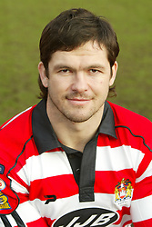 WIGAN, ENGLAND - Tuesday, January 6, 2004: Wigan Warriors' captain Andy Farrell pictured during the team's pre-season photo-call at the JJB Stadium. (Pic by David Rawcliffe/Propaganda)
