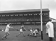 GAA All Ireland Minor Football Final Cork v. Galway 26th September 1960 Croke Park<br /><br />no further caption  *** Local Caption *** It is important to note that under the COPYRIGHT AND RELATED RIGHTS ACT 2000 the copyright of these photographs are the property of the photographer and they cannot be copied, scanned, reproduced or electronically stored in any form whatsoever without the written permission of the photographer  26th September 1960<br /> <br /> All Ireland Minor Football Final between Cork and Galway at Croke Park.