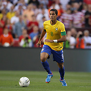 Romula, Brazil, in action during the USA V Brazil International friendly soccer match at FedEx Field, Washington DC, USA. 30th May 2012. Photo Tim Clayton