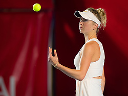 October 9, 2018 - Hong Kong, China - Elina Svitolina of the Ukraine in action during her first-round match at the 2018 Prudential Hong Kong Tennis Open WTA International tennis tournament (Credit Image: © AFP7 via ZUMA Wire)