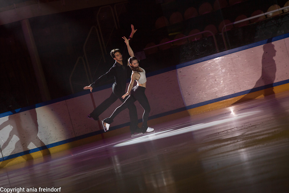 International Ice Skating Gala, Courchevel, France, 20 July 2017, Jasmine Tessari, Francesco Fioretti, Members of National Team, Italy, 3rd Champion of Italy Seniors,