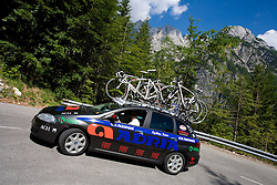 Car of Adria mobil at 1st stage of Tour de Slovenie 2009 from Koper (SLO) to Villach (AUT),  229 km, on June 18 2009, in Koper, Slovenia. (Photo by Vid Ponikvar / Sportida)
