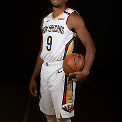 Sep 24, 2018; New Orleans, LA, USA; New Orleans Pelicans guard Darius Morris (9) poses for a portrait during Media Day at Ochsner Performance Center. Mandatory Credit: Derick E. Hingle-USA TODAY Sports