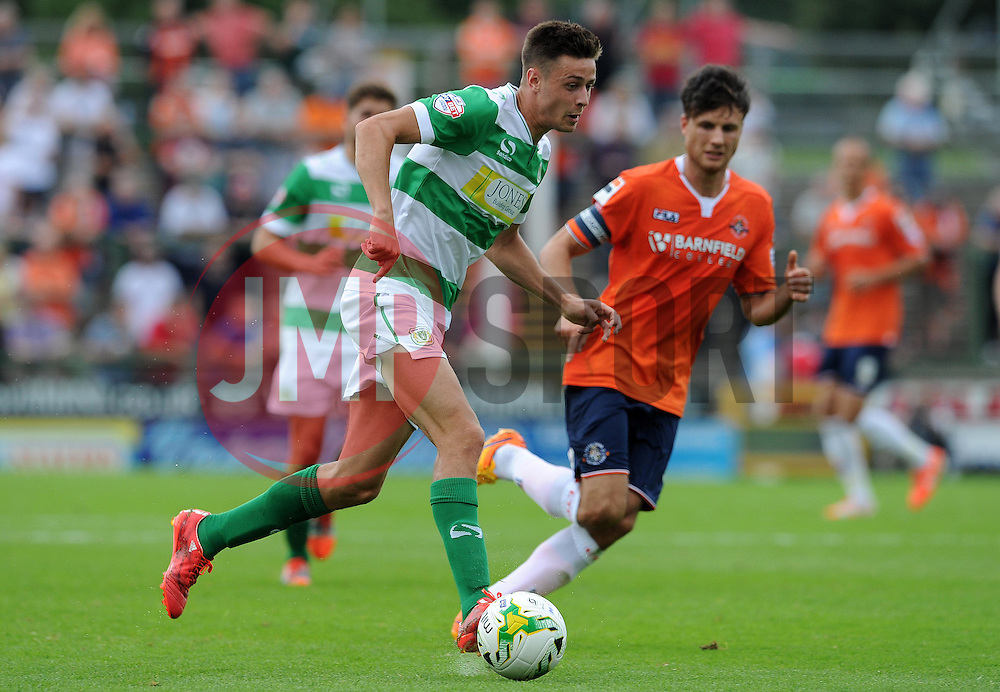 Harry Cornick of Yeovil Town - Photo mandatory by-line: Harry Trump/JMP - Mobile: 07966 386802 - 22/08/15 - SPORT - FOOTBALL - Sky Bet League Two - Yeovil Town v Luton Town - Huish Park, Yeovil, England.