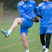 St Johnstone Training...10.01.14<br /> Lee Croft pictured during training this morning ahead of tomorrow's game against St Mirren.<br /> Picture by Graeme Hart.<br /> Copyright Perthshire Picture Agency<br /> Tel: 01738 623350  Mobile: 07990 594431