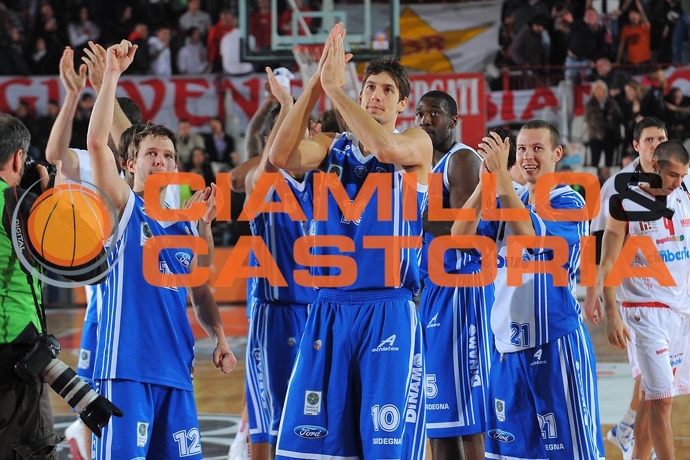 DESCRIZIONE : Varese Lega A 2010-11 Cimberio Varese Dinamo Sassari<br /> GIOCATORE : team Sassari Travis Diener Alessandro Cittadini<br /> SQUADRA : Dinamo Sassari<br /> EVENTO : Campionato Lega A 2010-2011<br /> GARA : Cimberio Varese Dinamo Sassari<br /> DATA : 06/01/2011<br /> CATEGORIA : Ritratto Esultanza<br /> SPORT : Pallacanestro<br /> AUTORE : Agenzia Ciamillo-Castoria/A.Dealberto<br /> Galleria : Lega Basket A 2010-2011<br /> Fotonotizia : Varese Lega A 2010-11Cimberio Varese Dinamo Sassari<br /> Predefinita :