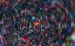01.01.2011, Große Olympiaschanze, Garmisch Partenkirchen, GER, Vierschanzentournee, Garmisch Partenkirchen, 1. Wertungsdurchgang, im Bild // FEature Zuschauer, Wischer, Kreis um eine Deutschland Flagge // during the 59th Four Hills Tournament First Jump in Garmisch Partenkirchen, EXPA Pictures © 2011, PhotoCredit: EXPA/ J. Feichter
