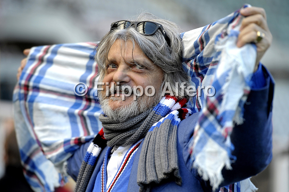 &copy; Filippo Alfero<br /> Torino-Sampdoria, Serie A 2014/2015<br /> Torino, 01/02/2015<br /> sport calcio<br /> Nella foto: Massimo Ferrero