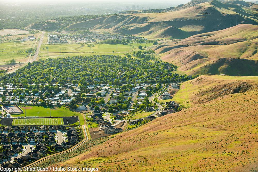 Aerial photo of Boise Idaho.
