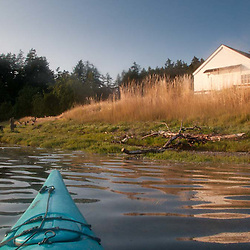 Approaching English Camp by Kayak, San Juan Island, Washington, US