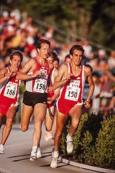 Doug Padilla, Steve Scott, Prefontaine Classic track and field meet, Hayward Field, University of Oregon, Eugene, Oregon, USA
