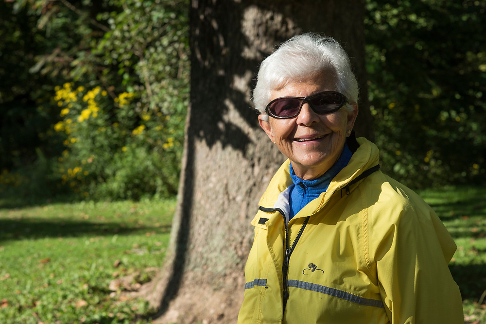Martha Raak -- park ambassador -- at Frick Park in Pittsburgh