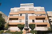 Israel, Tel Aviv, Renovated Bauhaus building at 27 Mazeh Street UNESCO has declared Tel Aviv an international heritage site because of the abundance of the Bauhaus architectural style