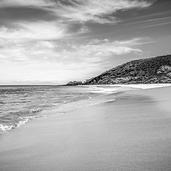 Makena Big Beach Maui Hawaii black and white photo. Big Beach is in Wailea-Makena Kihei Hawaii. Copyright ⓒ 2019 Paul Velgos with All Rights Reserved.