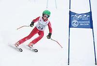 Gunstock Ski Club's Gus Pitou 2nd run of the alpine ski race for j6, j5, j4, j3.  Gunstock Mountain Resort January 8, 2012.