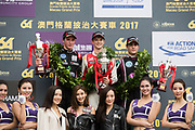 Callum ILOTT, SJM Theodore Racing by Prema, Dallara Mercedes, Joel ERIKSSON, Motopark with VEB, Dallara Volkswagen, Sérgio Sette CÂMARA, Motopark with VEB, Dallara Volkswagen64th Macau Grand Prix. 15-19.11.2017.<br /> Suncity Group Formula 3 Macau Grand Prix - FIA F3 World Cup<br /> Macau Copyright Free Image for editorial use only