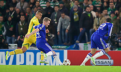 LONDON, ENGLAND - Wednesday, December 10, 2014: Chelsea's Andre Schurrle scores the second goal against Sporting Clube de Portugal during the final UEFA Champions League Group G match at Stamford Bridge. (Pic by David Rawcliffe/Propaganda)