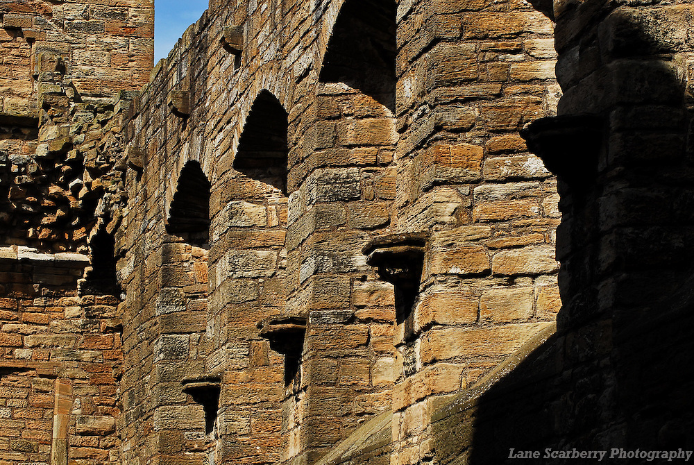 The ruins of Linlithgow Palace in Scotland