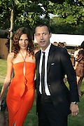 ASTRID MUNOZ AND DAN MACMILLAN, The Summer Party in association with Swarovski. Co-Chairs: Zaha Hadid and Dennis Hopper, Serpentine Gallery. London. 11 July 2007. <br />