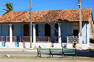 Tile roofed building in San Luis, Pinar del Rio, Cuba.