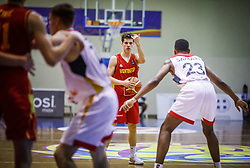 Milovic  Vasilije of Montenegro during basketball match between National teams of Germany and Montenegro in the 11th place Classifications of FIBA U18 European Championship 2019, on August 4, 2019 in Portaria Hall, Volos, Greece. Photo by Vid Ponikvar / Sportida