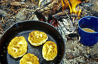Bannock and tea over the campfire.