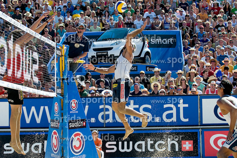 Marcio Araujo of Brazil at A1 Beach Volleyball Grand Slam tournament of Swatch FIVB World Tour 2010, semifinal, on August 1, 2010 in Klagenfurt, Austria. (Photo by Matic Klansek Velej / Sportida)