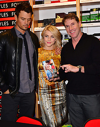 Josh Duhamel, Julianne Hough &  Nicholas Sparks during Safe Haven book signing, Foyles, Westfield, White City, London, UK, February 21, 2013.  Photo by Nils Jorgensen / i-Images.