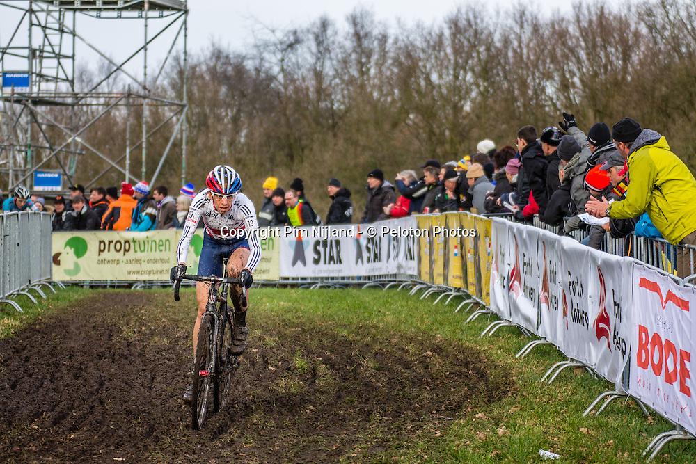 Helen WYMAN (19,GBR), 2nd lap Women UCI CX World Championships - Hoogerheide, The Netherlands - 1st February 2014 - Photo by Pim Nijland / Peloton Photos