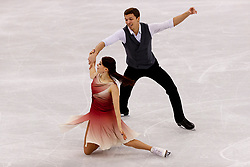 February 12, 2018 - Gangneung, South Korea - Ekaterina Bobrova and Dimitri Soloviev of Olympic Athlete from Russian compete during the Team Event Ice Dance Free Dance at the PyeongChang 2018 Winter Olympic Games at Gangneung Ice Arena on Monday February 12, 2018. (Credit Image: © Paul Kitagaki Jr. via ZUMA Wire)