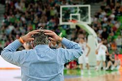 Zoran Predin, singer, mad about referees during final match of Basketball NLB League at Final Four tournament between KK Union Olimpija (SLO) and Partizan Belgrade (SRB), on April 21, 2011 at SRC Stozice, Ljubljana, Slovenia. (Photo By Matic Klansek Velej / Sportida.com)