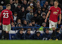 Football - 2019 / 2020 Premier League - Chelsea vs. Manchester United<br /> <br /> Frank Lampard,  Manager of Chelsea FC,  seems resigned to defeat as he sits dejectedly on the bench at Stamford Bridge <br /> <br /> COLORSPORT/DANIEL BEARHAM