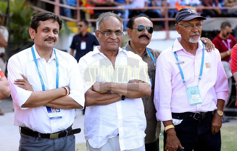 Niranjan Shah BCCI Official during match 26 of the Vivo 2017 Indian Premier League between the Gujarat Lions and the Kings XI Punjab held at the Saurashtra Cricket Association Stadium in Rajkot, India on the 23rd April 2017<br /> <br /> Photo by Sandeep Shetty - Sportzpics - IPL
