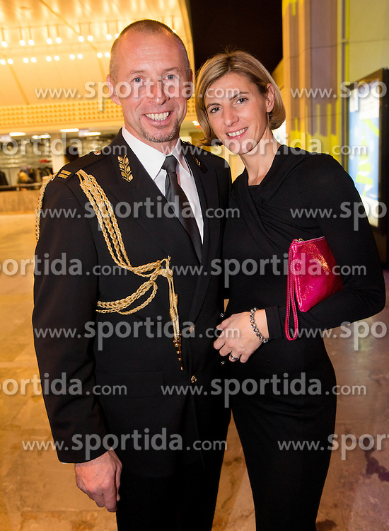 Miran Stanovnik and his girlfriend Pika Gajic at Slovenian Sports personality of the year 2012 annual awards presented on the base of Slovenian sports reporters, on December 20, 2011 in Cankarjev dom, Ljubljana, Slovenia. (Photo By Vid Ponikvar / Sportida.com)