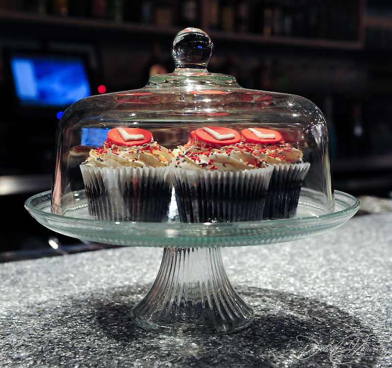 The Loft's full service bar features cupcakes